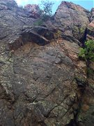Rock Climbing Photo: The route starts bottom left and heads up to top r...