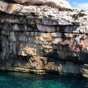 Rock Climbing Photo: Unknown climber traversing at Stoja.