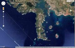 Rock Climbing Photo: Map showing Kap Kamenjak (~8 miles south of Pula)....