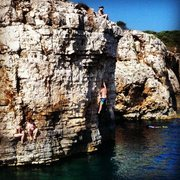 Rock Climbing Photo: DWS cliff at Kap Kamenjak.