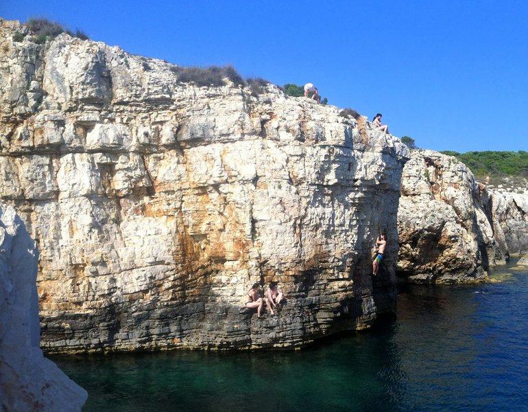Rock Climbing Photo: The main DWS area at Kap Kamenjak.  Partially hidd...