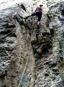 "Rock Climbing Photo: Climbing ""Popeye"" at Crni Kal."