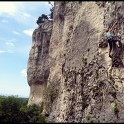 Rock Climbing Photo: One of the longer routes at Crni Kal.