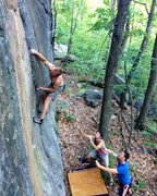 Rock Climbing Photo: open project on the far right at main wall.  someo...