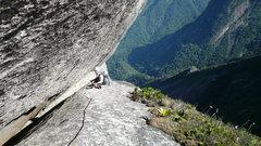 Rock Climbing Photo: Start of the descent.