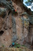 Rock Climbing Photo: Gabriela pulling through the crux bulge. July 2014...