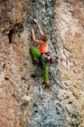 Rock Climbing Photo: Great holds through the middle section of the blac...