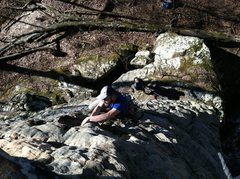 Rock Climbing Photo: Brendon Mantooth Smith leading Chris's Climb