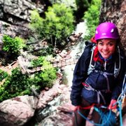 Rock Climbing Photo: On the Bastille in Eldorado Canyon