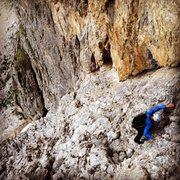 Rock Climbing Photo: Having fun on the Ramp route.
