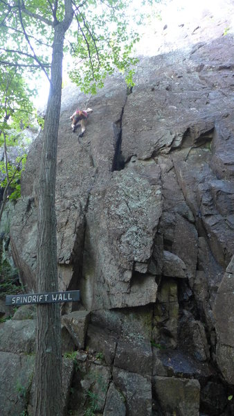 Rock Climbing Photo: Adas route follows the obvious crack.