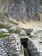 Rock Climbing Photo: Austrian trenches from WW1 at the base of Piz Laga...