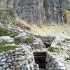 Austrian trenches from WW1 at the base of Piz Lagazuoi.  Open to the public and great for a rest day.