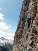 Rock Climbing Photo: Crux pitch of Constantini/Ghedina.