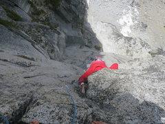 Rock Climbing Photo: Jon Gleason goes head first on Let It Burn. Classi...