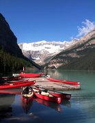 Rock Climbing Photo: Lake Lousie from near the parking area.  The Back ...