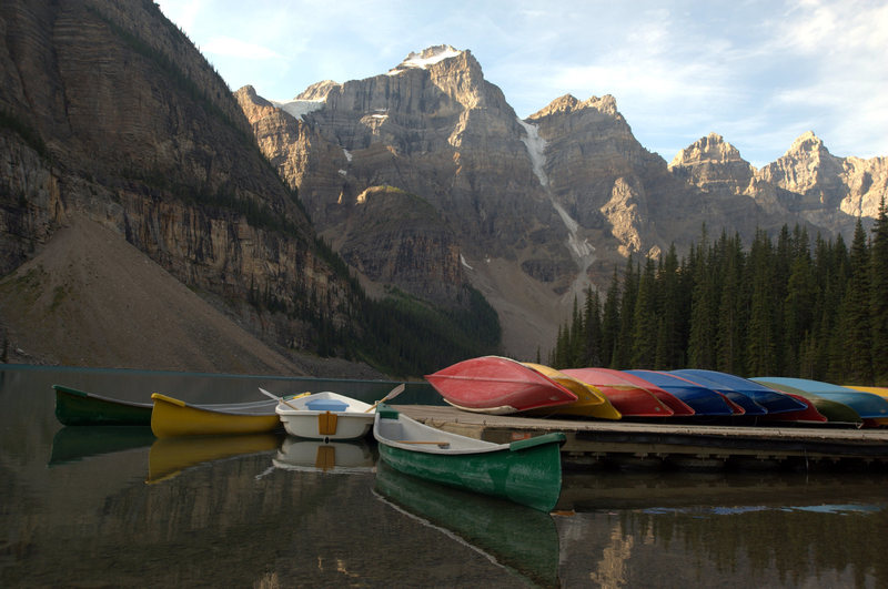 Moraine Lake and Valley of the Ten Peaks.