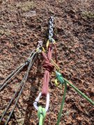 Rock Climbing Photo: The luxurious anchor atop the second pitch. (Thank...