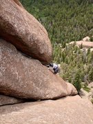 Rock Climbing Photo: The top of the second pitch (very photogenic!!!); ...