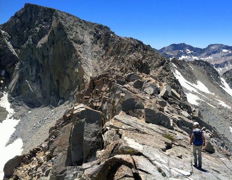 Heading toward Trapezoid Peak while traversing from Hurd Peak to Mt Goode.