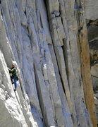 Rock Climbing Photo: Climber on Tradewinds.