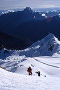 Rock Climbing Photo: Near the summit of Huayna Potosi.2007.