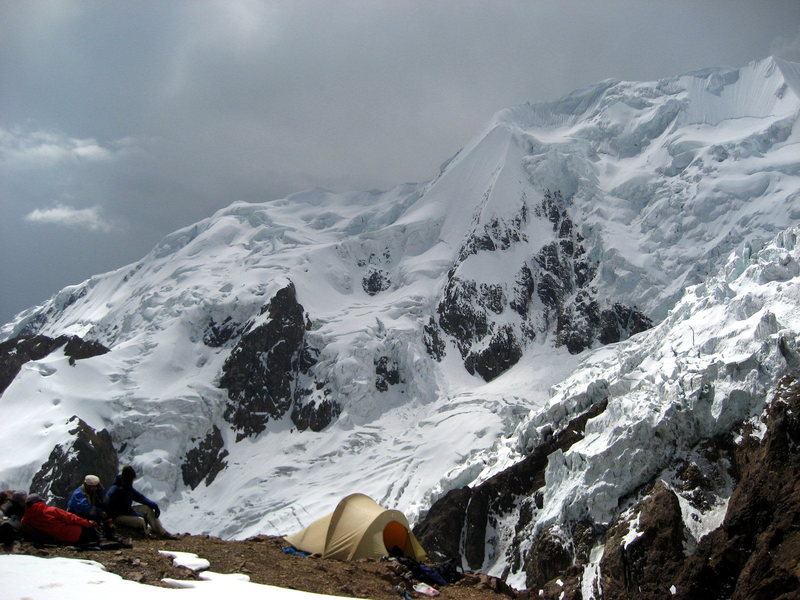 Hanging out a high camp on the normal route.  2007.