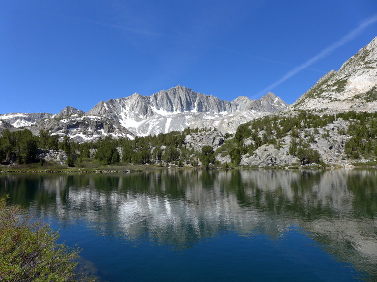 Rock Climbing Photo: one of the many photo ops along Bishop Pass trail ...