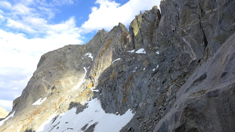 Rock Climbing Photo: the N slabs descent route