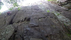 Rock Climbing Photo: Ground Zero is the bolt line just right of the cra...