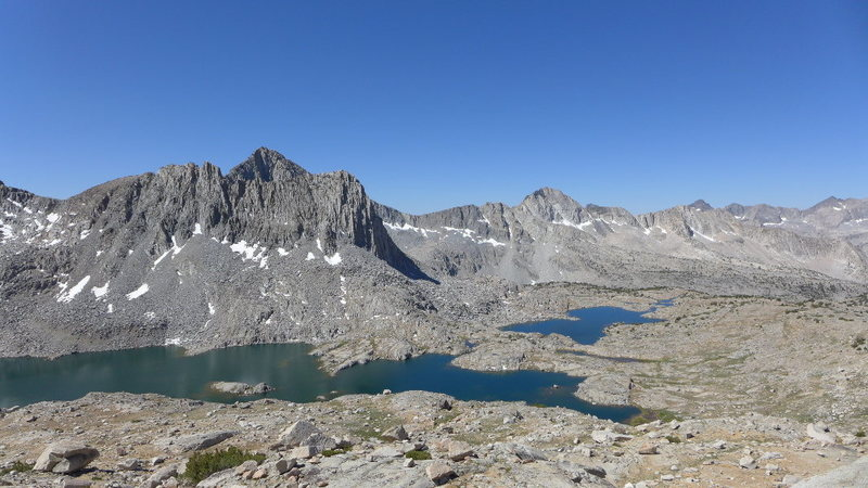 Rock Climbing Photo: Isosceles Peak and Dusy Basin