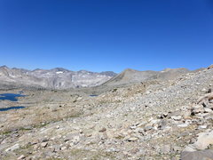Rock Climbing Photo: looking back toward Bishop Pass