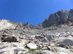 Rock Climbing Photo: approaching Winchell (note the prominent white ban...