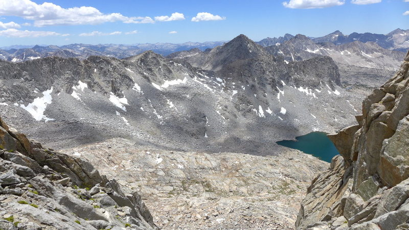 Rock Climbing Photo: another view down to Dusy Basin