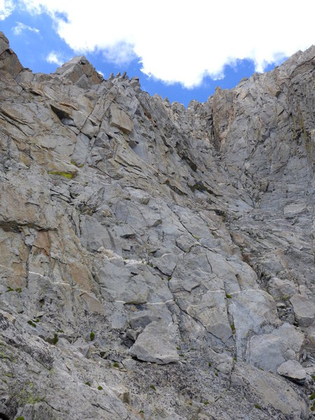 Rock Climbing Photo: The chute steepens.