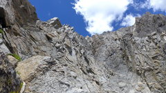 Rock Climbing Photo: about where I decided to leave the chute to gain t...