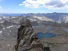 Rock Climbing Photo: reward for gaining the ridge early