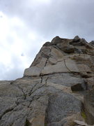 Rock Climbing Photo: I originally tried going straight up, but didn't l...