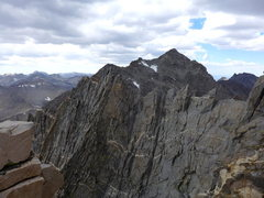 Rock Climbing Photo: The NW Ridge coming in from Agassiz. You'll take t...