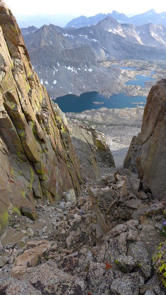 Rock Climbing Photo: looking down from Agassiz Col to Dusy