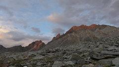 Rock Climbing Photo: final light on Aperture and Agassiz