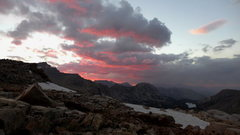 Rock Climbing Photo: sunset from Bishop Pass