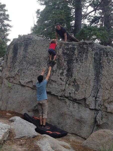 Rock Climbing Photo: My 3 year old Zuri sending Problem H