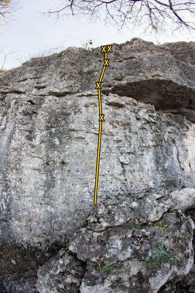 Rock Climbing Photo: Bound to Divide (5.8)