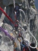 Rock Climbing Photo: Micro-Trax/Haul bag attachment.