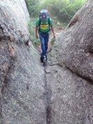 Rock Climbing Photo: Slot canyon.