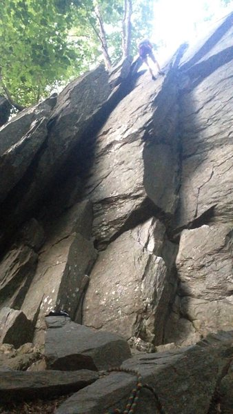 Rock Climbing Photo: Rappel off of Rack wall