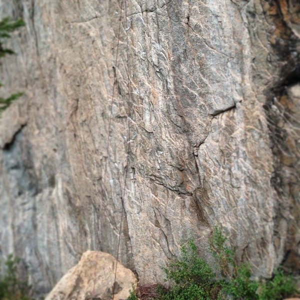 Rock Climbing Photo: Cryptic series of granite slimpers.
