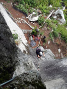 Rock Climbing Photo: Takami following Crystal Ether. Sweet climb!
