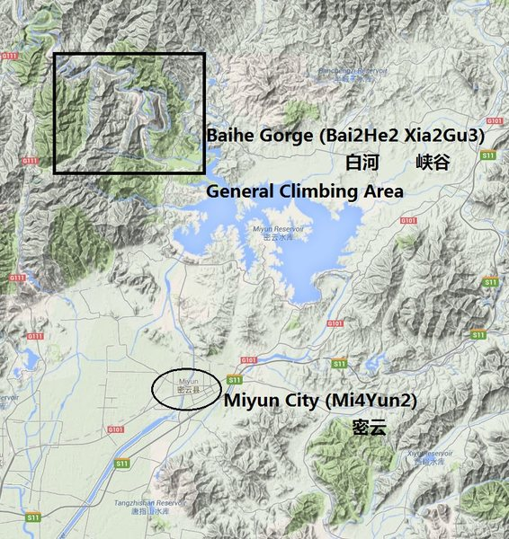 Baihe general area and Miyun